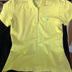 Yellow Lilly Pulitzer Short Sleeve Polo